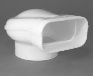 Umlenkstück ProGuide Abluft Flachkanal 150 x 70 mm zu Ø 125 mm Dunstabzug *50422