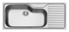Pyramis Einbau Küchenspüle 1160 x 500 mm Edelstahl 1 Becken gross *100144505