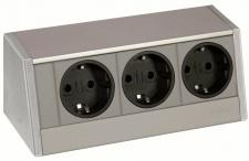 EVOline R-Dock Aufbau Schuko Küchensteckdose 170 x 73 x 70 mm Aluminium *543137