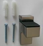 1 Wandhalter 5-18 mm Glasbodenhalter Regalbodenhalter Edelstahl Optik *509-07