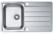 Alveus Edelstahl Einbau Küchenspüle 860 x 500 mm Abwasch Spülbecken *Line-max-20