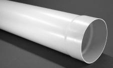 Umluft Abluft 1 m Lüftungs-/Rundrohr Ø 150 mm einseitig mit Muffe PVC *50090