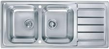 Alveus Edelstahl Einbau Küchenspüle 1160 x 500 mm Doppelspülbecken *Line-max-100