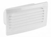 Abluft Außen Innengitter Flachkanal 150 x 70 mm Rückstauklappe PVC Weiß *527427