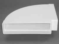 Breitkanal 220 x 54 mm Flachkanal Bogen waagerecht 90° Abluft Rohrwinkel *50804