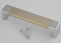 Schrank Möbel Bogengriff BA 128 mm Bügel KommodenTür Küchengriff BiColor *728