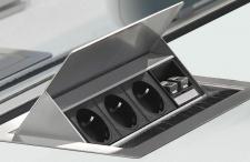EVOline FlipTop Schreibtisch Einbausteckdose 2 x PC Anschluss (RJ45) *34315