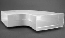 Abluft Flachkanal 220 x 90 mm Lüftung 90° Bogen waagerecht Abluftbogen *50305