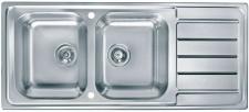 Alveus Küchenspüle Einbauspüle 1160x500 mm Doppelspüle 2 Becken Spüle *1087975