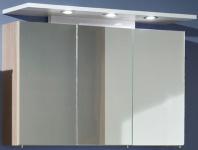 LED Spiegelschrank 100 cm Badmöbel 3 x 1, 8 W Strahler Schalter Steckdose *83202