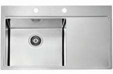 Alveus Pure 50 Einbau Küchenspüle 860 x 525 mm Spül Abwaschbecken Links *1103652