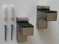 2 Stück Bodenträger Wandhalter 5-18 mm Glas Regalbodenhalter Tablarträger 509-07
