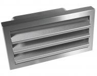 Flachkanal 220 x 90 mm Edelstahl Aussengitter Classic 150 Rückstauklappe *528240