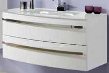 Waschplatz 112 x 54 cm Waschtisch Schubladen Vollauszug SoftClose *WP-Alina110-W
