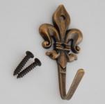 Geschirr Handtuchhaken Bronze antik Bad Wandhaken Küchenhaken Landhausstil *513