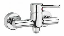 Bad-/Duscharmatur Wasserhahn CARLO Dusche Einhandmischer Chrom Brausehebel *0417