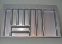 Schubladen Besteckeinsatz Teck 90 cm Küchen Besteckkasten zuschneidbar *44576
