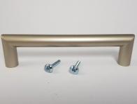 Schrank Möbelgriffe BA 128 mm Edelstahl Optik matt Bügelgriff Küchengriffe *9004