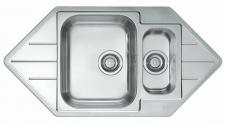 Alveus Küchenspüle Einbauspüle Eckspüle 985x500 mm Leinen Line 40 Becken*1085940