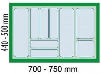 Dirks Schubladen Besteckeinsatz zuschneidbar Besteckkasten 80 cm Schrank *41927