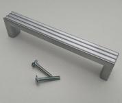 Kommoden Möbelgriffe BA 128 mm Chrom matt Schubladen Schrank Küchengriffe *9008