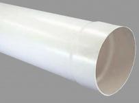 Abluft Lüftungs Rundrohr Ø 150 mm Muffe einseitig 100 cm lang PVC Rohr *527991