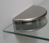 1 Glasbodenhalter Bodenträger Wandhalter Edelstahl Optik Glasboden Halterung*519