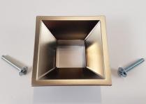 Möbelknopf Möbelgriff BA 32 mm Edelstahl Optik matt Schrankknöpfe Griffe *9049