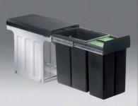 Wesco Bio Double Bio Küchen Abfall Mülleimer 1 x 8, 1 x 16 L Vollauszug *40313