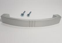 Schrankgriff Küchengriff BA 128 mm Chrom matt Möbelgriffe Alufarbig Silber *9034