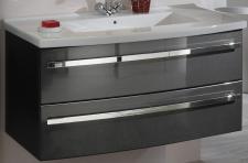 Waschplatz Marmorguss Becken 112 cm Waschtisch SoftClose Vollauszug*WPAlina110-A