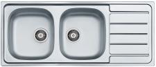 Alveus Doppelspüle Küchen Einbauspüle 1160 x 500 mm Doppelbecken Ablage*Line-100