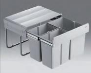Wesco Trio Shorty Abfall Mülleimer Vollauszug 1 x 15, 2 x 7, 5 L Küche *515318