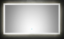 Badezimmer Spiegel 120x65 cm Touch Badspiegel LED Beleuchtung warmweiss *12065