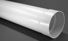 Abluft 1, 0 m Rundrohr Ø 125 mm Muffe einseitig Lüftungsrohr Rundkanal *50086
