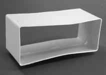 Flachkanal 220 x 90 mm Abluftkanal Muffe Abluftrohr Verbindungsmuffe *50302