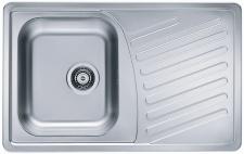 Alveus Küchenspüle Spülbecken 810x510 mm Einbauspüle Leinen-Struktur *1009381
