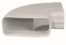 Abluft Dunstabzug Flachkanal 222 x 89 mm Bogen 90° waagerecht optimAiro *50554