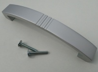 Schrankgriffe Küchengriffe BA 128 mm Chrom matt Möbelgriffe Tür Bogengriff *9034