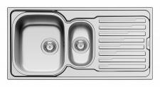 Pyramis Küchen Einbauspüle 1000 x 500 mm Resteschale 1, 5 Spülbecken *Amaltia-1.5