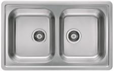 Alveus Einbauspüle Küchenspüle 810x510 mm 2 Becken Doppelbecken Spüle *1009383