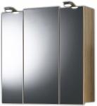 Badspiegel 68cm Spiegelschrank 3 Türen LED Beleuchtung Schalter Stecker *5423-14