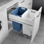 Hailo Laundry Carrier 450 Wäschekorb 66 L Wäschesortierer Selbsteinzug *551057