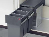 Hailo Terzett 3-fach Abfall Küchen Mülleimer 3 x 10 Liter Vollauszug *516124