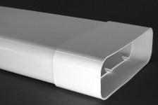 Flachkanal 230 x 80 mm Lüftungsrohr Power 150 Abluft 100 cm mit Muffe *50461