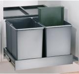 Wesco Trio Shorty Automatik Bio Abfall Mülleimer 1 x 15, 2 x 7, 5 L Küche *515417