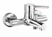 Aufputz Wannen-/Badarmatur Wasserhahn Badewanne Mischbatterie Brausehebel *0416