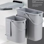 Wesco Ökotainer Junior 1 x 19, 1 x 10 Liter Küchen Bio Abfall Mülleimer *40700