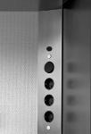 3-fach Eck Schuko Wand Küchensteckdose mit Schalter Edelstahl gebürstet *34299