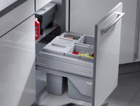 Hailo Cargo Soft 45 Mülleimer Küche 3 x 10 Liter Smooth-Tec Selbsteinzug *40437